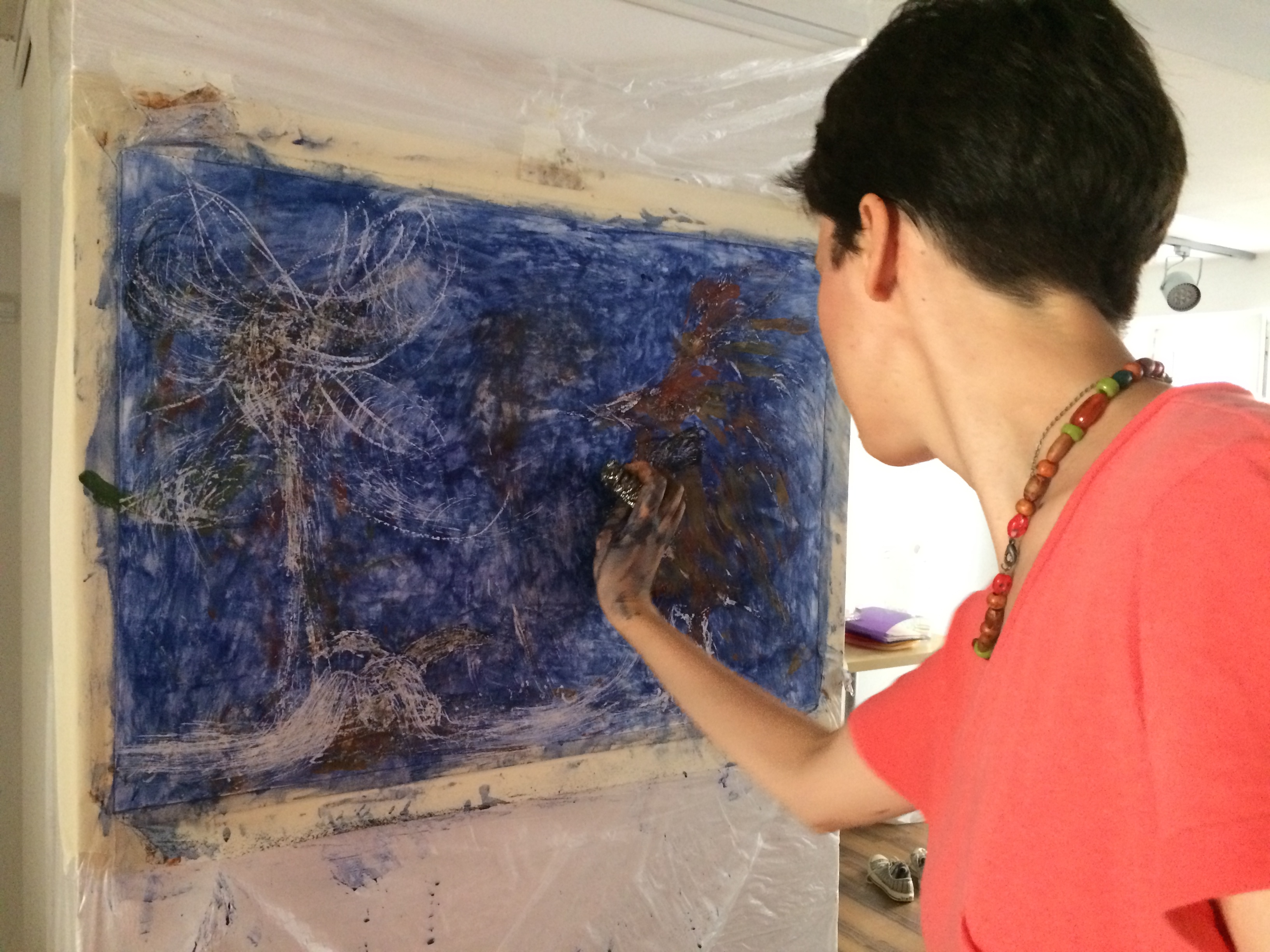 Sevilay Akarçay about Earth Colours intuitive painting workshop